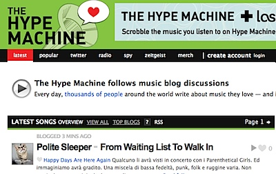 Latest Songs From MP3 & Music Blogs _ The Hype Machine