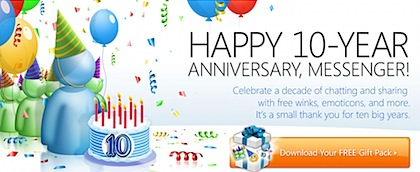 Windows Live Messenger 10-Year Anniversary
