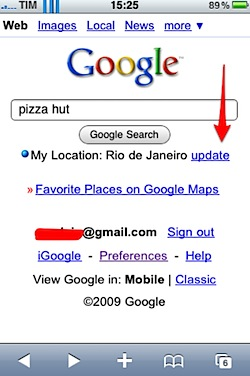 iphone google location