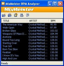 mixmeister bpm analyzer