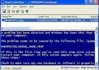 windows BlueScreen View