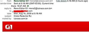 assunto email virus mostrar detalhes