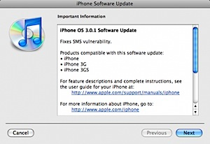 iphone 3.0.1 software