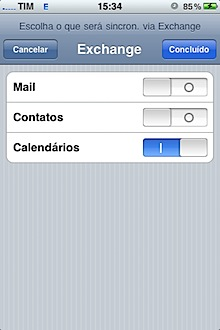 iphone exchange mail contacts settings