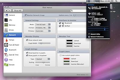 istat menu-network