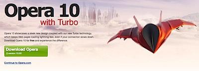 Opera Browser 10 turbo