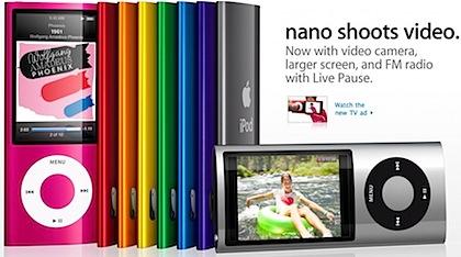 Apple ipod nano video