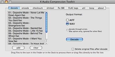 X Audio Compression Toolkit