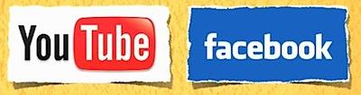 youtube facebook logo
