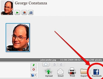 Picasa 3 facebook button