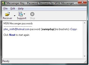 Messenger recuperar senha password recovery