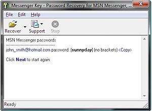 Messenger recuperar senha password recovery