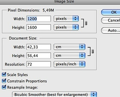 photoshop Image Size resample