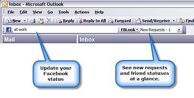 outlook facebook