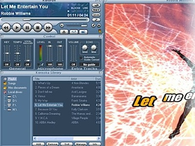 Free karaoke software, player and editor
