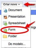 Google Docs new form
