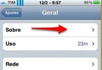 iPhone sobre geral