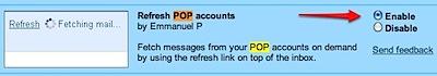 gmail labs refresh pop