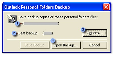 outlook personal folders backup