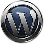 wordpress logo metalic