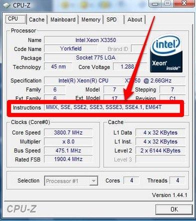 CPUZ instructions 64bits