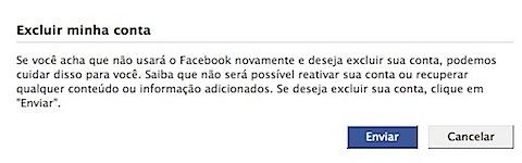 Facebook-Excluir minha conta