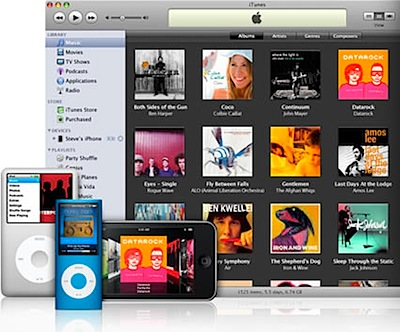 itunes ipod nano touch