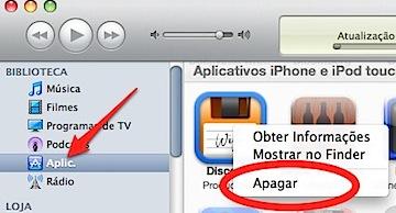 iTunes delete iphone app