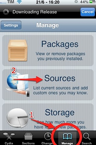 iPhoto manage sources cydia