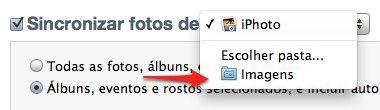 itunes sync photos folder