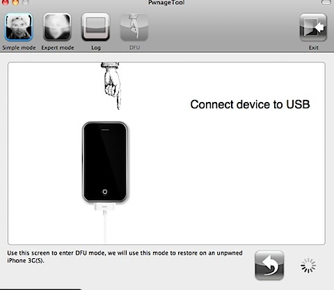 pwnagetool connect device to usb