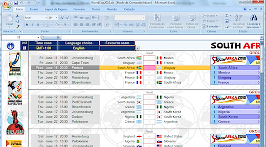 world cup fifa 2010 excel spreadsheet