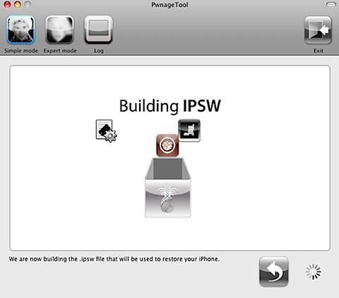 pwnage tool create ipsw final