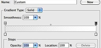 Gradient Editor white shadow