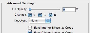 Layer Style advanced blending