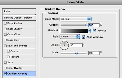 Layer Style gradient overlay
