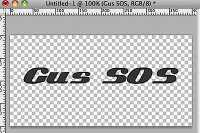 Photoshop gus sos logo font