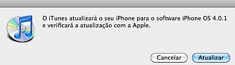 iTunes iphone os 4.0.1 apple