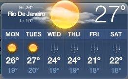 widget mac weather rio de janeir