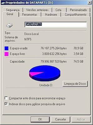windows disk properties