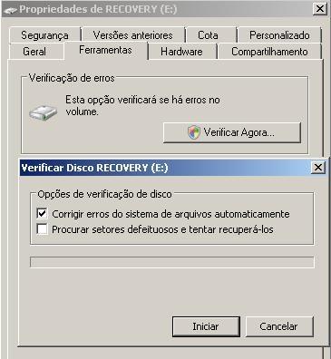 windows vista check disk