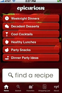 Epicurious Recipes & Shopping List for iPhone, iPod touch, and iPad on the iTunes App Store