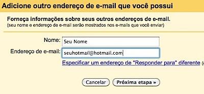 Gmail - Adicione outro endereço de e-mail
