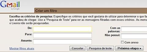 gmail criar filtro create filter pt