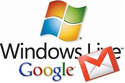 gmail windows live mail hotmail