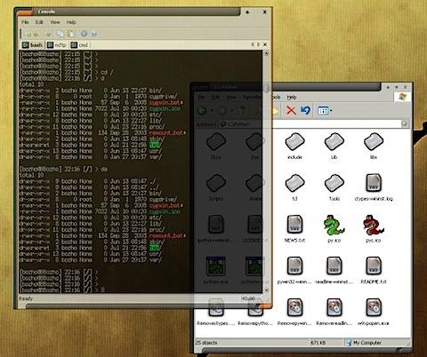 console terminal dos windows