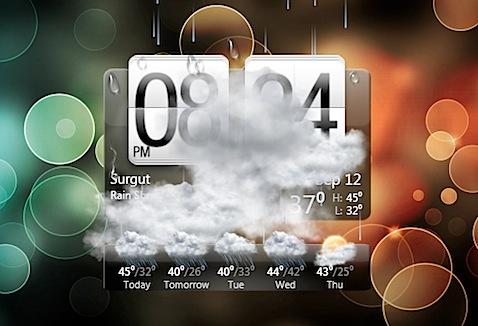 widget windows htc weather