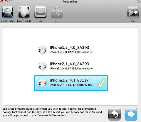 PwnageTool iphone 4.1