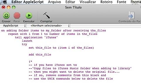 editor apple script mac itunes