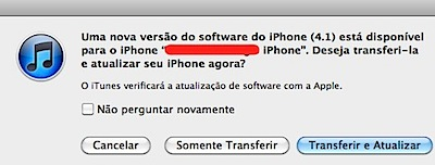 iTunes iphone 4.1